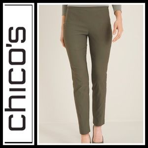 Chico's Ankle Stretch Pull on Dark Olive Pants